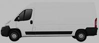 Long Vase Transit Van